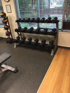 Hotel Gym Workout Dumbells