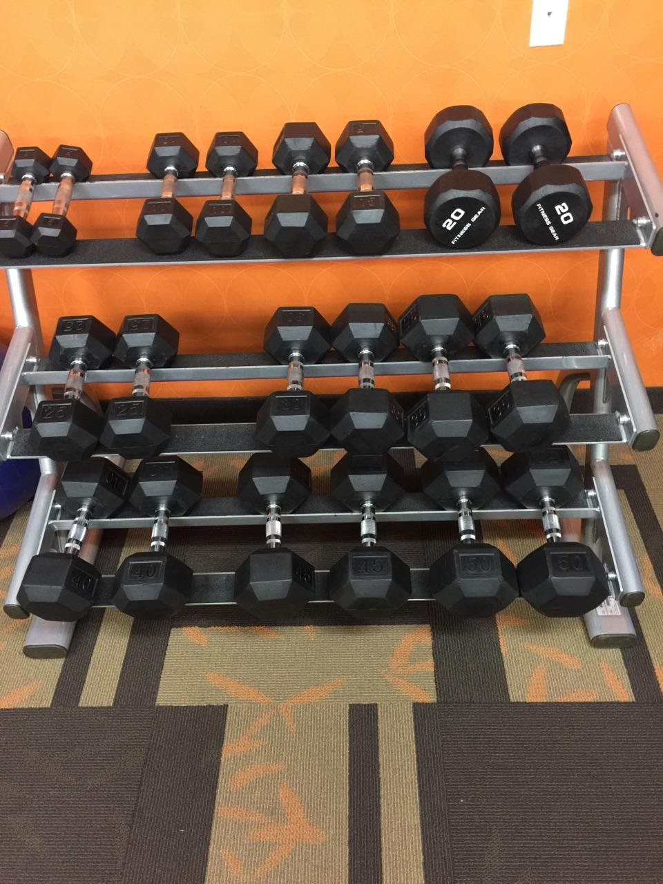 Hotel Gym Workout Leg Day Dumbells